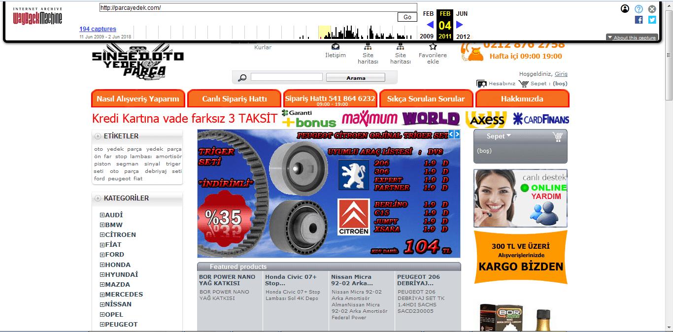 site geçmişi 2011