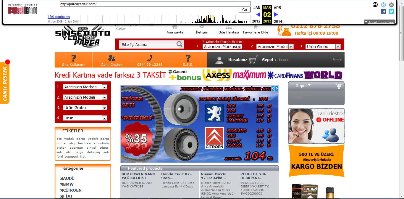 site geçmişi 2013